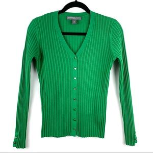 JOSEPHINE CHAUS Green Cable Knit Cardigan
